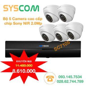 trọn bộ 5 camera giá rẻ
