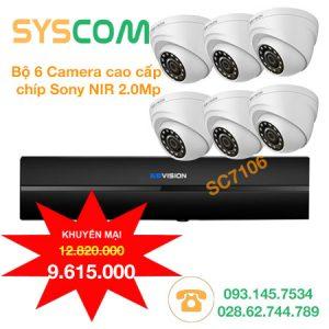 trọn bộ 6 camera giá rẻ